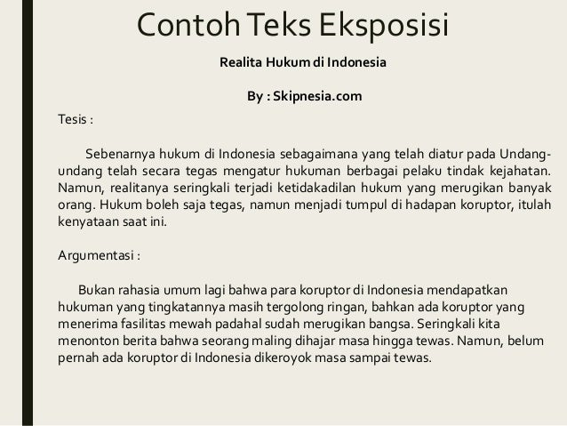 Bahasa Indonesia Eksposisi