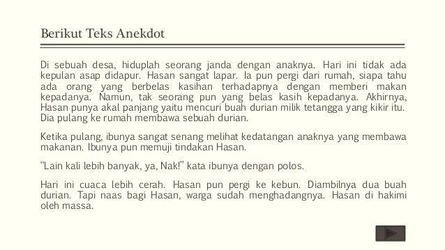 Bahasa indonesia kelas X  Interpretasi Isi Teks Anekdot   Makna Kata…