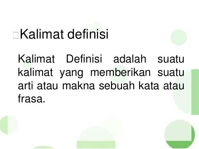 Bahasa Indonesia SMA Kelas X Semester 1   Kalimat Deskripsi, Definisi…