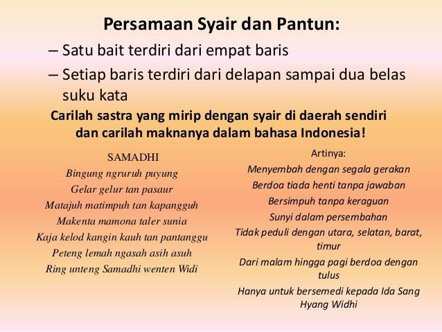 Bahasa Indonesia Syair Puisi Gurindam