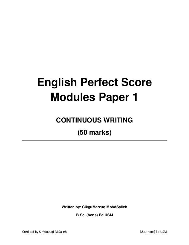 Spm 2006 english paper 1 answer continuous writing about family