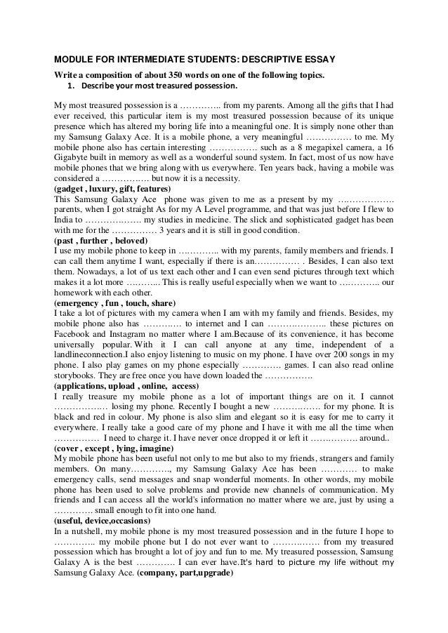 my prized possession essay