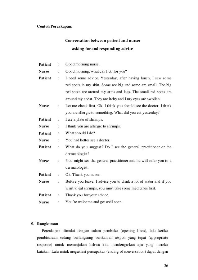 conversation between doctor and patient in english pdf