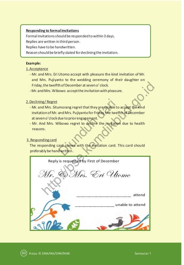 Bahasa inggris buku siswa 84 respondingtoformalinvitations formalinvitationsshouldberespondedtowithin3days stopboris Choice Image