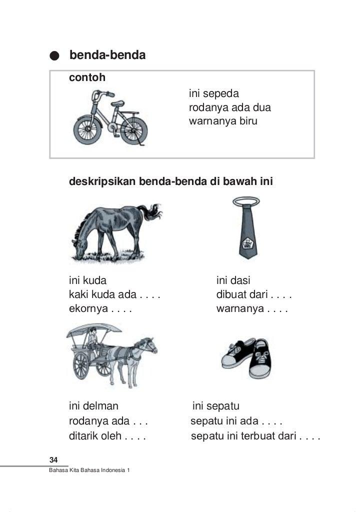 Bahasa Kita Bahasa Indonesia Kelas 1 S