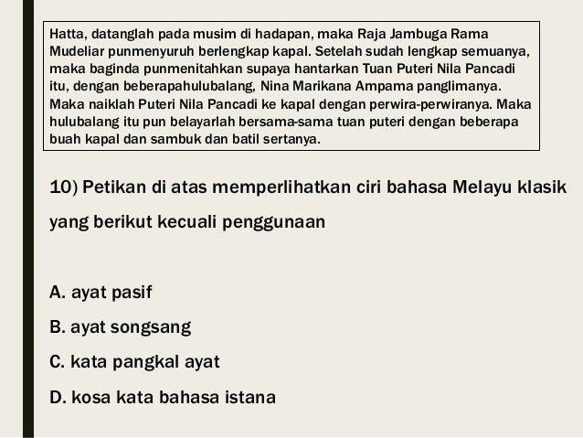 Bahasa Melayu Klasik Stpm Sem 1