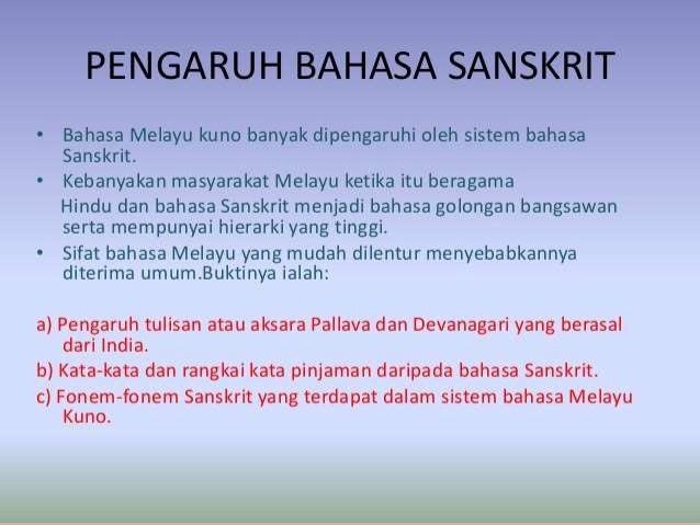 Bahasa Melayu Kuno