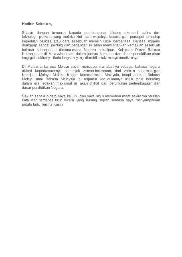 Contoh Soal Shu Contoh Pidato Bahasa Melayu Pendek