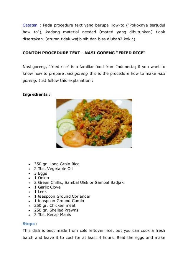 Resep Masakan Dalam Bahasa Inggris Dapur Masakan Mbak Anis