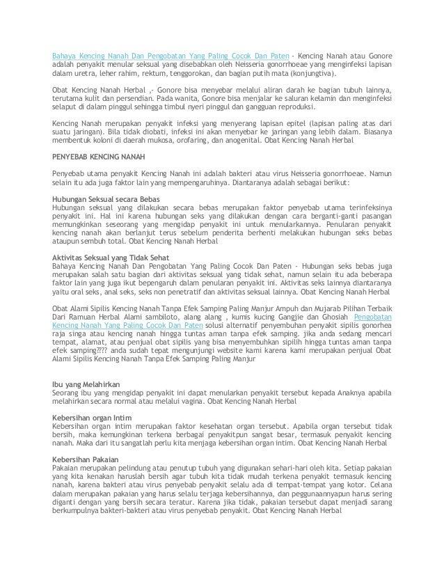 Bahaya Kencing Nanah Dan Pengobatan Yang Paling Cocok Dan Paten - Kencing Nanah atau Gonore adalah penyakit menular seksua...