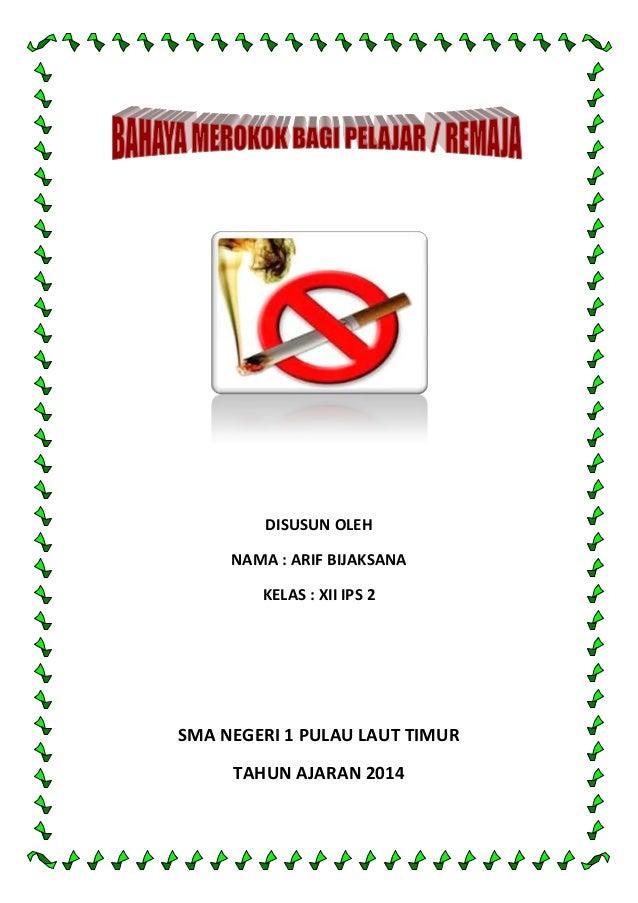 Bahaya Merokok Bagi Remaja Pelajar