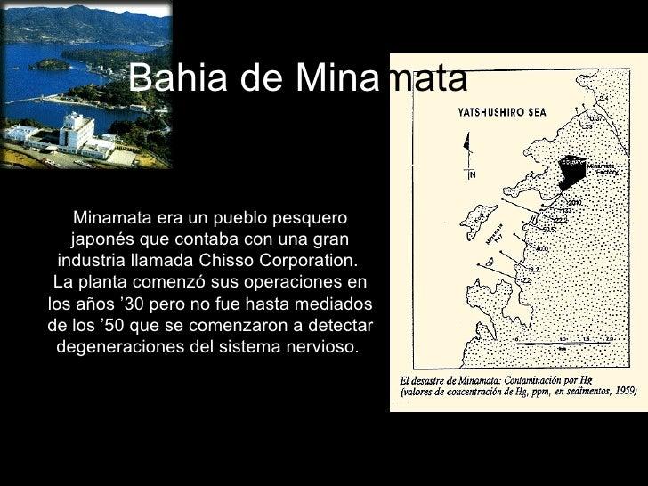 Bahia de Mina mata Minamata era un pueblo pesquero japonés que contaba con una gran industria llamada Chisso Corporation. ...