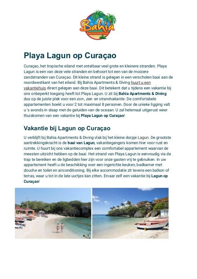 Playa Lagun op Curaçao Curaçao, het tropische eiland met ontelbaar veel grote en kleinere stranden. Playa Lagun is een van...