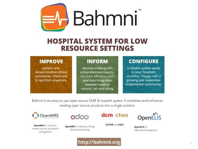 Bahmni - an open source hospital system Slide 2