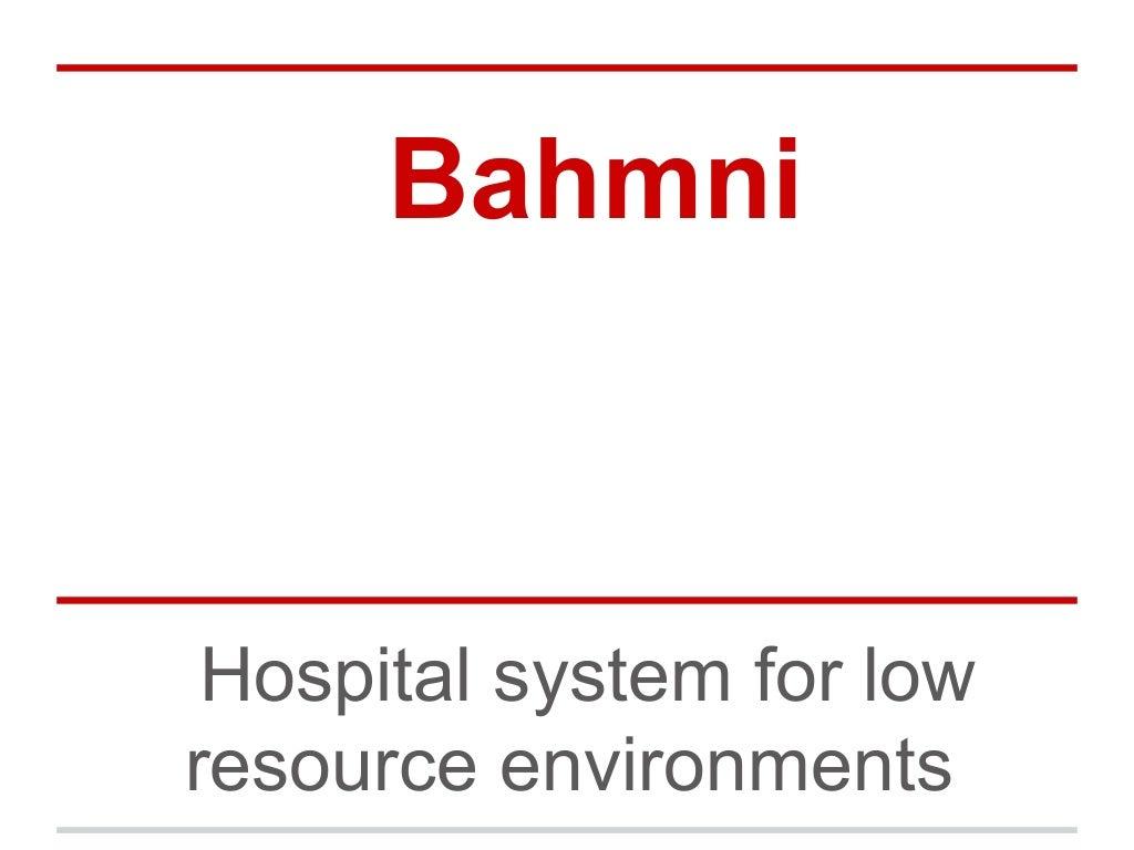Introduction to Bahmni Hospital management system
