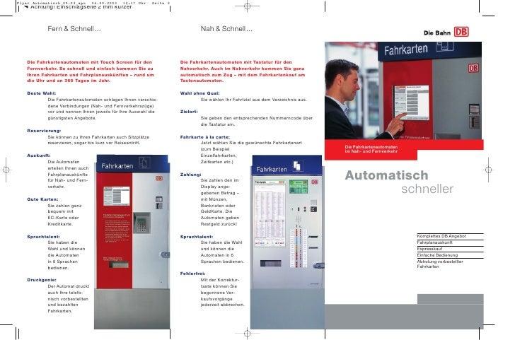 Fern & Schnell ...                                           Nah & Schnell ...    Die Fahrkartenautomaten mit Touch Screen...