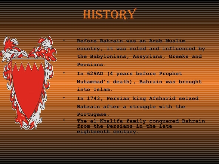 a look at the history of bahrain A guide to the united states' history of recognition, diplomatic, and consular relations, by country, since 1776: bahrain summary in 1968, when the british .