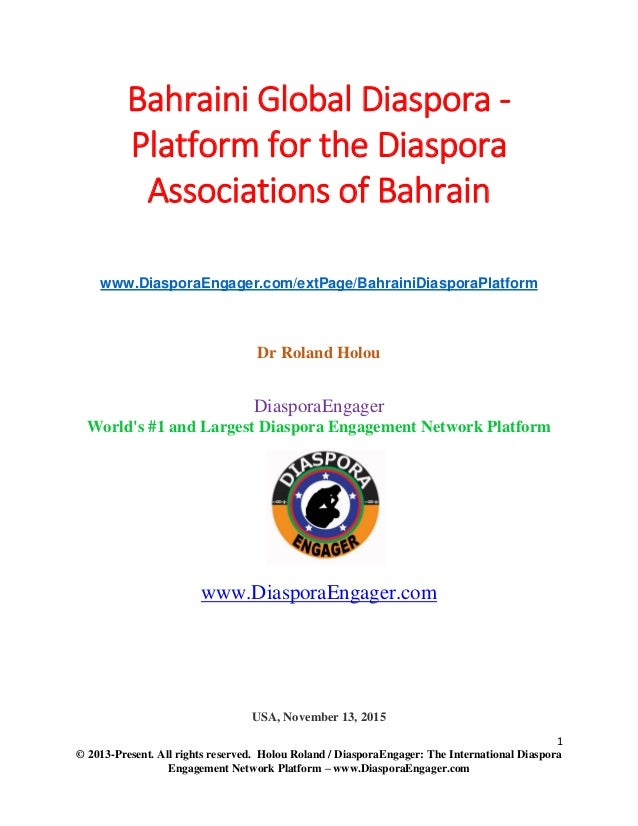 Bahraini Global Diaspora Immigrants And Refugees Platform For The - Map of immigrant diasporas across the us
