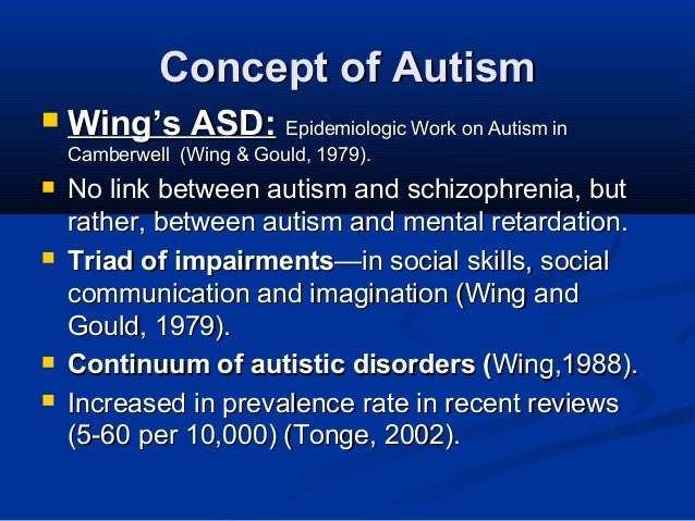 the triad of impairments in asd psychology essay A literature review of the treatment and education for autistic  master of science school psychology  impairments in the child's ability to use language or.