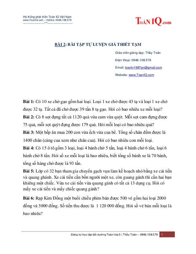 Hệ thống phát triển Toán IQ Việt Nam www.ToanIQ.com – Hotline: 0946.108.579 ----------------------***---------------------...