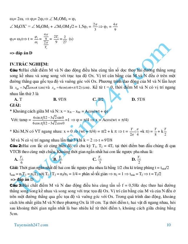Tuyensinh247.com 10 2= 21  2= 21  M1OM2 = 1  M0OX' =  M0OM1 + M1OM2/2 = 1,51 = 3 2  1 = 9 4 1= 1t t = 1...