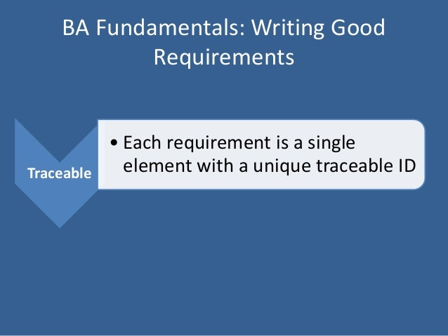 writing business requirements Ver vídeo in this course, author, pmp, and business analyst terri wagner demonstrates the importance of developing sound project requirements to.