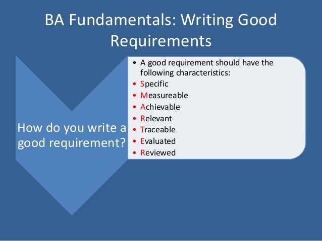 Writing good requirements