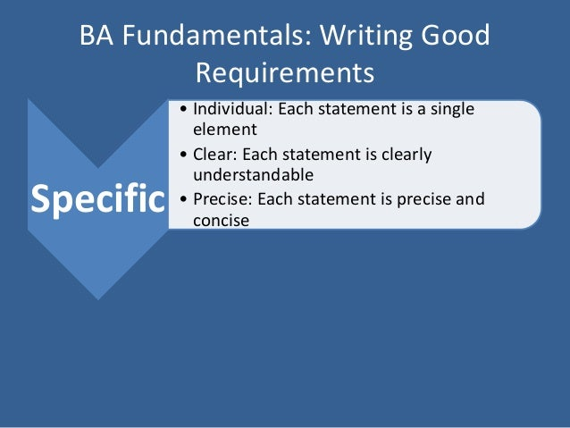 writing good requirements To write a good requirement, you must write it as a complete sentence, with a subject and a predicate the subject is an actor, a stakeholder, the system under.