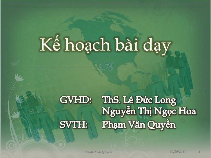 Phạm Văn Quyền   10/20/2011   1