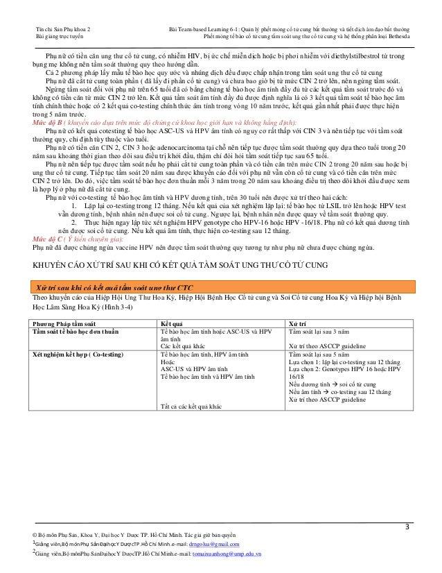 PAP SMEAR -PHẾT MỎNG TẾ BÀO CỔ TỬ CUNG TẦM SOÁT UNG THƯ CỔ TỬ CUNG - HỆ THỐNG PHÂN LOẠI BETHESDA 2001 Slide 3