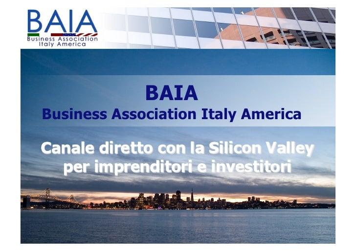 BAIA Business Association Italy America