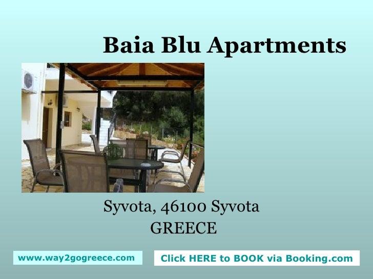 Baia Blu Apartments Syvota, 46100 Syvota  GREECE