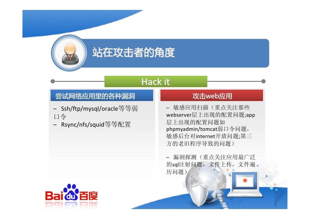 站在攻击者的角度    探测一个web应用