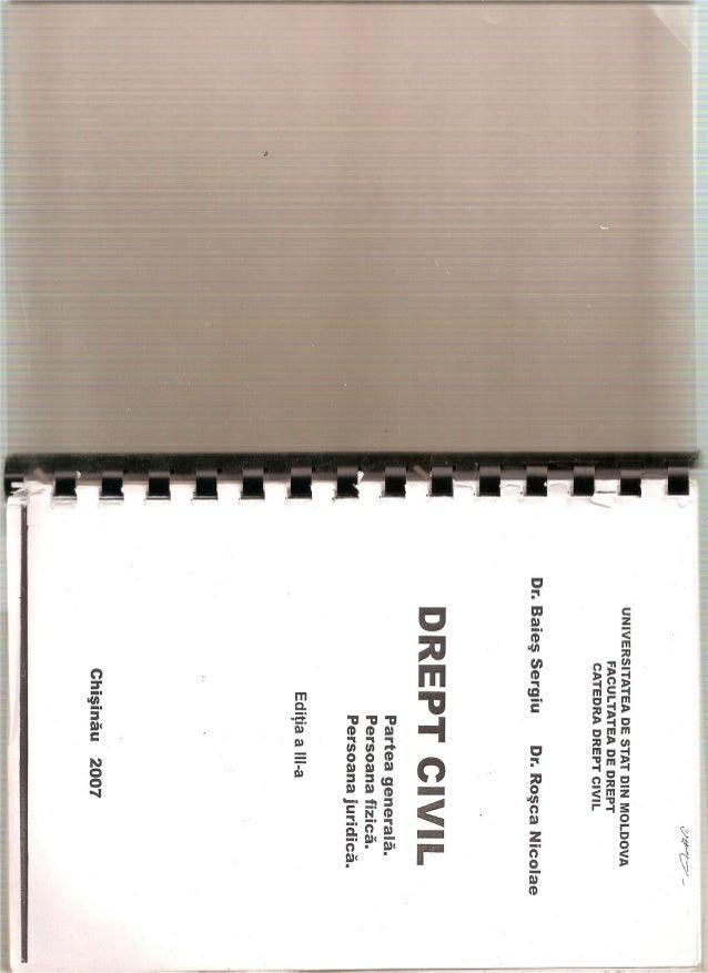Baies sergiu --rosca-nicolae_-_drept civil-2007