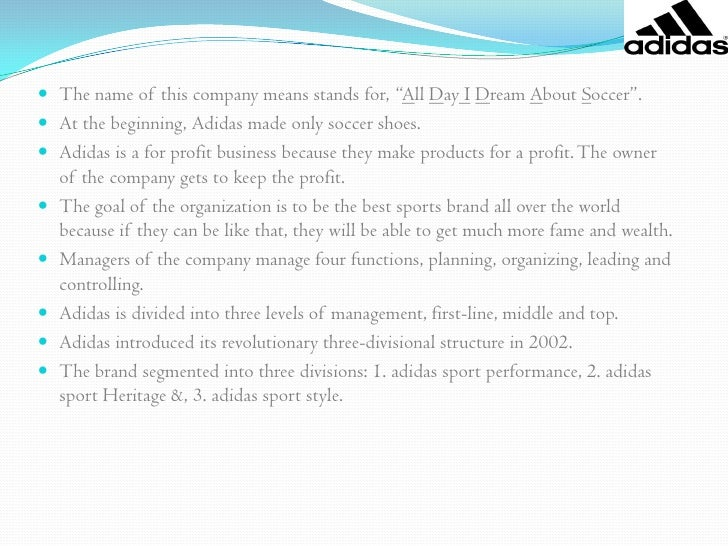 objectives of adidas corporation Here you find our financial news, puma's share development and our financial calendar.
