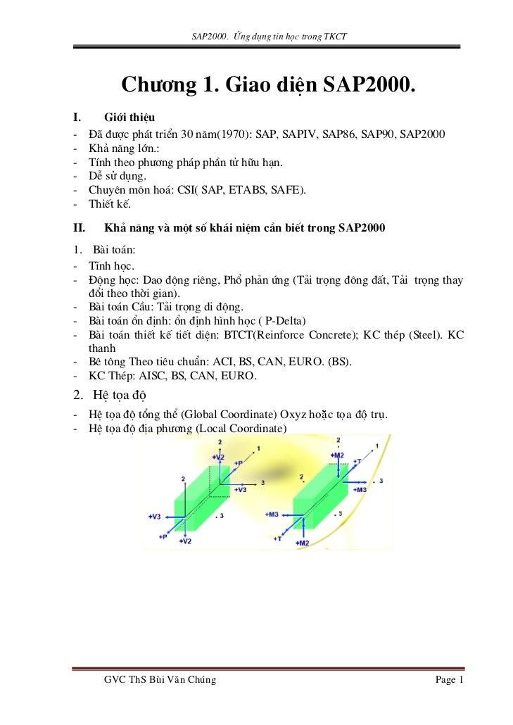 SAP2000. øng dông tin häc trong TKCT           Ch−¬ng 1. Giao diÖn SAP2000.I.       Giíi thiÖu-     §· ®−îc ph¸t triÓn 30 ...