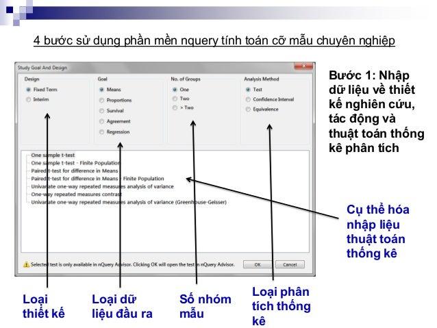 Loại thiết kế Bước 1: Nhập dữ liệu về thiết kế nghiên cứu, tác động và thuật toán thống kê phân tích 4 bước sử dụng phần m...