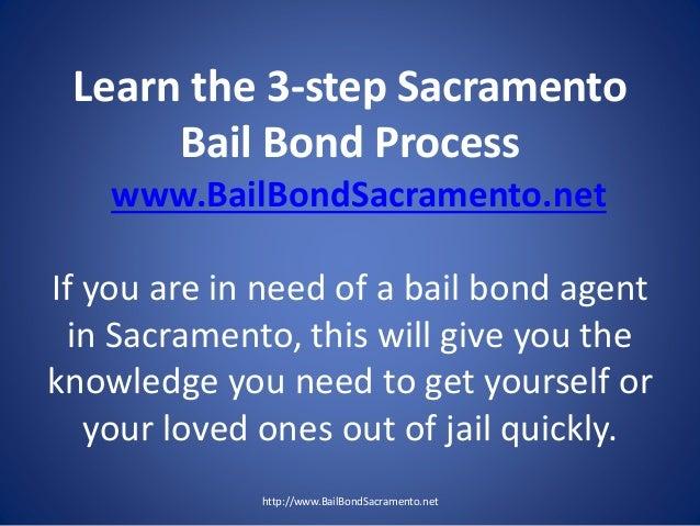 Learn the 3-step Sacramento Bail Bond Process www.BailBondSacramento.net If you are in need of a bail bond agent in Sacram...