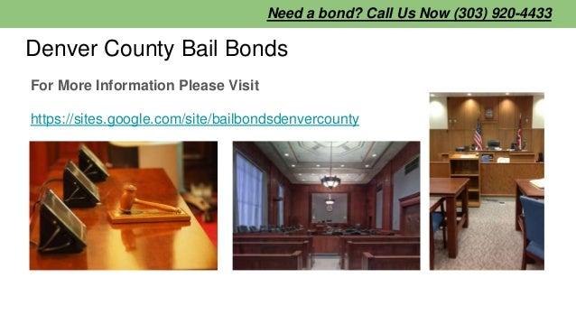 Denver County Bail Bonds For More Information Please Visit https://sites.google.com/site/bailbondsdenvercounty Need a bond...