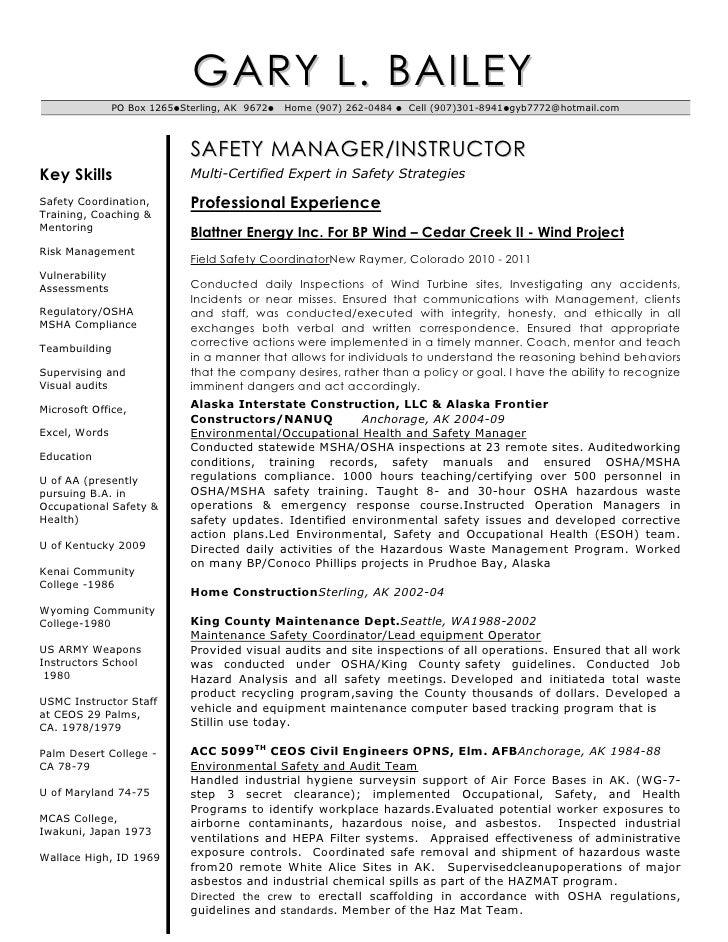 Bailey Resume Updated 06 2011