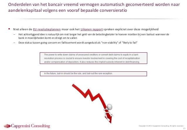 Onderdelen van het bancair vreemd vermogen automatisch geconverteerd worden naaraandelenkapitaal volgens een vooraf bepaal...