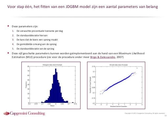 Voor stap één, het fitten van een JDGBM model zijn een aantal parameters van belang Deze parameters zijn:   1. De verwach...
