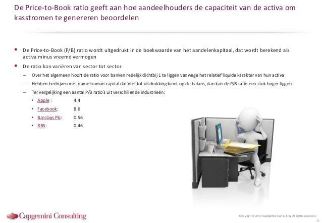 De Price-to-Book ratio geeft aan hoe aandeelhouders de capaciteit van de activa omkasstromen te genereren beoordelen De P...