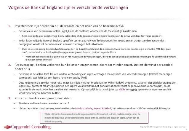 Volgens de Bank of England zijn er verschillende verklaringen1.   Investeerders zijn onzeker m.b.t. de waarde en het risic...
