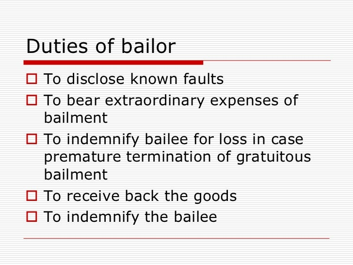 bailment and pledge case study