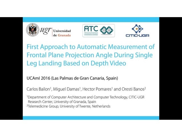First Approach to Automatic Measurement of Frontal Plane Projection Angle During Single Leg Landing Based on Depth Video Slide 2