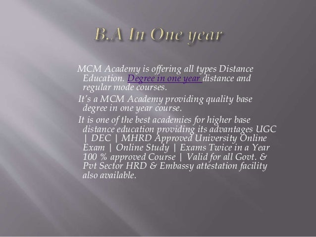 Ba in a one year | Degree in a one year | fast track mode | fast trac…