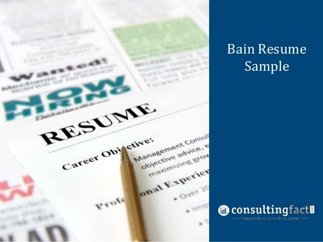 Bain Resume Management Sample Consulting Resume Sample