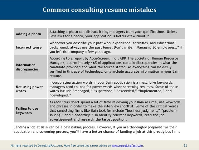 10; 11. Common Consulting Resume ...  Key Words To Use In A Resume