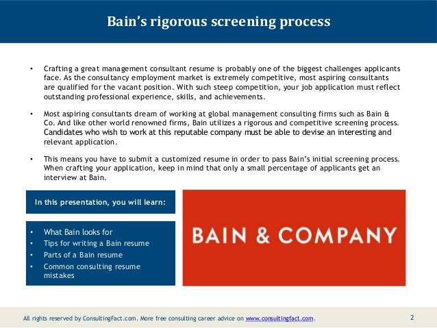 bain resume management sample consulting resume sample 2 - Sample Consultant Resumes 10 Top Consultant Resume Examples